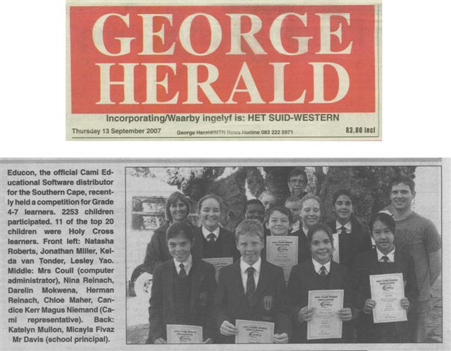 George Herald, 17th September, 2007